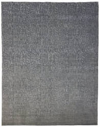 Due Process Textures Vested Grey Area Rug