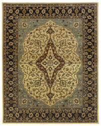 Due Process Tufted Mohtesham Covered Field Beige - Black Area Rug