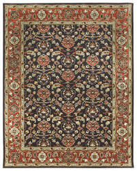 Due Process Tufted Shield Brown - Brick Area Rug