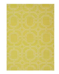 Eastern Rugs Reversible Kilim Dm101gd Gold Area Rug