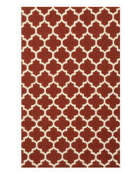 Eastern Rugs Flatweave Reversible Moroccan Dm75rd Red Area Rug