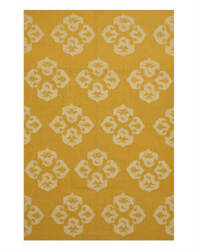 Eastern Rugs Flatweave Reversible Lily Dm77gd Gold Area Rug