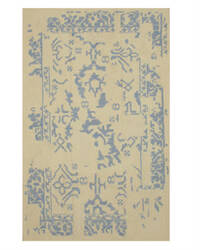 Eastern Rugs Flatweave Reversible Erased Dm82iv Ivory Area Rug