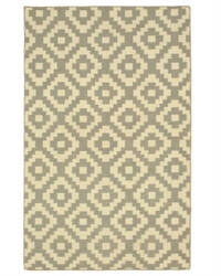 Eastern Rugs Flatweave Reversible Moroccan Dm84gy Grey Area Rug