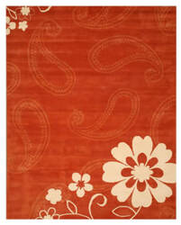 Eastern Rugs Charlotte Ie20 Rust Area Rug