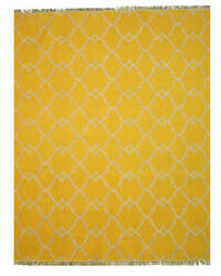 Eastern Rugs Reversible Moroccan Outdoor Ie51yl Yellow Area Rug
