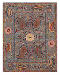 Eastern Rugs Paisley Ie61bl Blue Area Rug