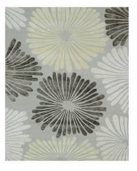 Eastern Rugs Sunflower Ie64sl Silver Area Rug