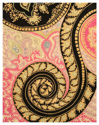 Eastern Rugs Paisley Ie8780c Black Area Rug