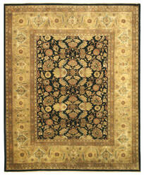Eastern Rugs Tabriz Sa58bk Black Area Rug