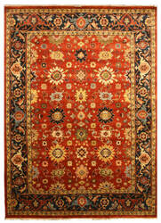 Eastern Rugs Tribal Sht19rt Rust Area Rug