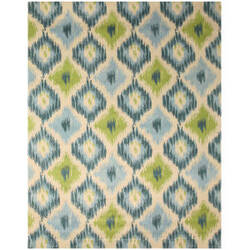 Eastern Rugs Ikat T101bl Ivory Area Rug