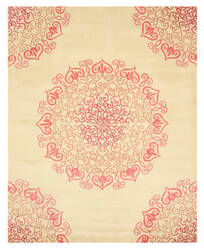 Eastern Rugs Paisley T117rd Red Area Rug