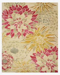Eastern Rugs Sunflower T124iv Ivory Area Rug