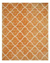Eastern Rugs Tie-Dye Moroccan T128or Orange Area Rug