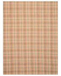 Eastern Rugs Wool Plaid T130bn Brown Area Rug