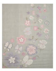Eastern Rugs Kid's Butterfly T138gy Grey Area Rug