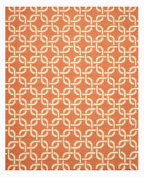 Eastern Rugs Dhurrie Tlnk1or Orange Area Rug