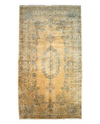 Eastern Rugs Kerman X25072 Gold Area Rug