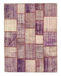 Eastern Rugs Turkish Patchwork X35329 Purple Area Rug