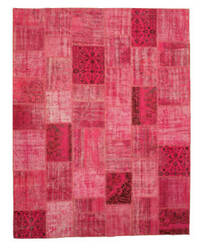 Eastern Rugs Turkish Patchwork X35370 Pink Area Rug
