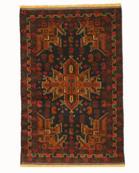 Eastern Rugs Baluchi X35449 Black Area Rug