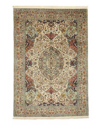 Eastern Rugs Silk X35673 Ivory Area Rug