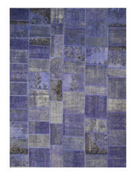 Eastern Rugs Turkish Patchwork X35920 Blue Area Rug