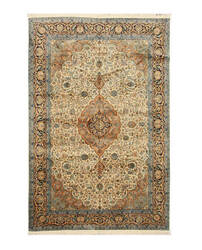 Eastern Rugs Silk X35979 Ivory Area Rug