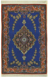 Eastern Rugs Isfahan X36020 Blue Area Rug