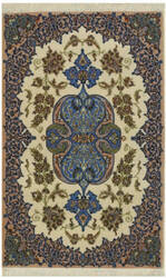 Eastern Rugs Isfahan X36021 Ivory Area Rug