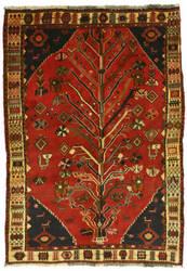 Eastern Rugs Shiraz Yz927 Red Area Rug