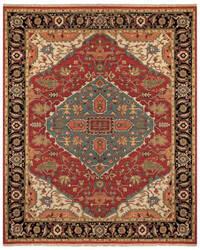 Feizy Goshen 0638f Red - Black Area Rug