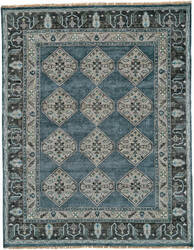 Feizy Ustad 6111f Dark Blue - Gray Area Rug
