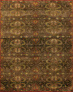 RugStudio Transitional 44552 Brown Area Rug