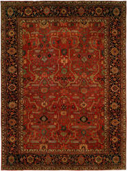 Hri Antique Heriz 104 Red - Blue Area Rug