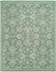 HRI Aria Ar-8 Teal Green Area Rug