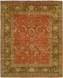 Hri Mahal MJ-15 Rust - Brown Area Rug