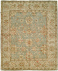 Hri Peshawar P-6 Light Blue - Ivory Area Rug