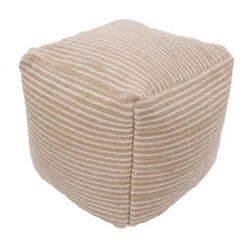Jaipur Living Alma Pouf Almi Alm01 Sand Shell And Light Gray