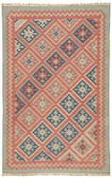 Jaipur Living Anatolia Ottoman At01 Burnt Brick / Medium Blue Outlet Area Rug