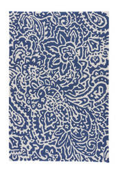 Jaipur Living Barcelona I-O Flores BA03 Cloud Dancer - Twilight Blue Area Rug