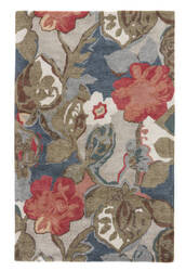 Jaipur Living Blue Petal Pusher Bl116 Dress Blues - Chili Pepper Area Rug