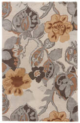Jaipur Living Blue Petal Pusher Bl65 Taos Taupe - Mustard Gold Area Rug