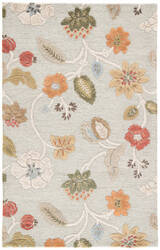 Jaipur Living Blue Garden Party Bl83 Misty Blue - Apricot Orange Area Rug