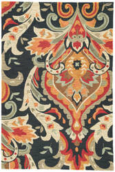 Jaipur Living Brio Brocade Br28 Majolica Blue - Aurora Red Area Rug