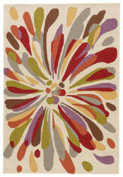 Jaipur Living Colours Flowerburst Co15 Seedpearl - Bossa Nova Area Rug