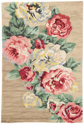 Jaipur Living Flora Corsage Flo06 Lark and Brown Sugar Area Rug
