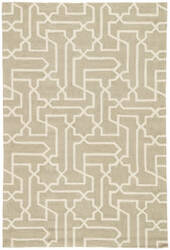 Jaipur Living Fusion Linx Fn40 Simply Taupe - Antique White Area Rug