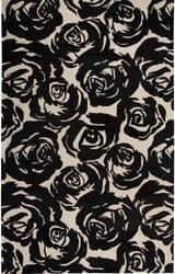 Jaipur Living Gramercy By Kate Spade New York Contrast Rose Garden Gkn12 Black Area Rug